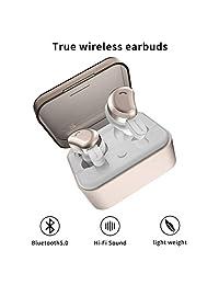 Auriculares inalámbricos AMORNO True Bluetooth auriculares in-ear Deep Bass cancelación de ruido auriculares mini a prueba de sudor auriculares deportivos con funda de carga micrófono incorporado