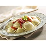 Rosina Food Celentano Large Meat Ravioli Pasta - Round, 22 Ounce -- 12 per case.