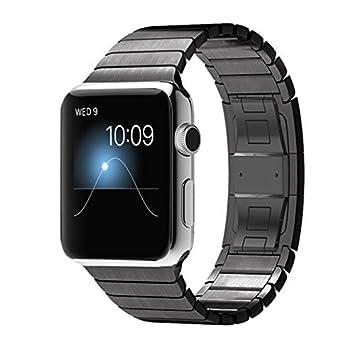 Dokpav® Apple Watch Banda para Relojes Versión Mejorada de Acero Inoxidable Reemplazo de Banda de