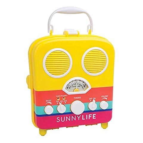 SunnyLife Portable Beach MP3 Speaker with AM/FM Radio and Smartphone Holder - Havana (Dab Car Audio)
