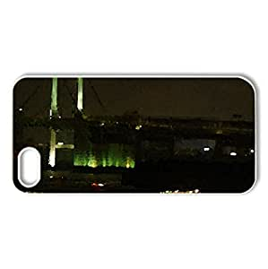 CITY NIGHT - Case Cover for iPhone 5 and 5S (Modern Series, Watercolor style, White)