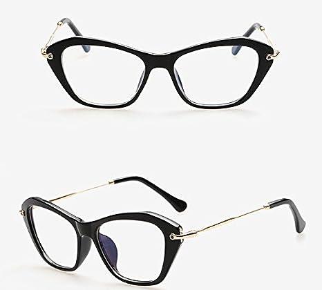 TIANLIANG04 Occhio di Gatto montature donne anti-radiazioni Lente Cornici computer di Marca eyewear occhiali da Vista nero,black