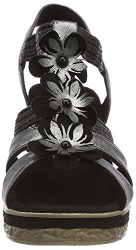 28302 Comb Arrière Femme Marco Noir Bride Black Tozzi Noir Sandales 6znqAqxw15