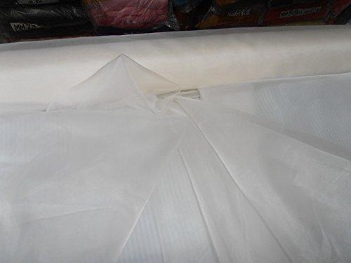 - Sale~off White China Silk Organza 54