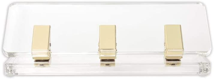 "russell+hazel Acrylic Mini Hole Punch, Clear with Gold-Toned Hardware, 8.5"" x 2.75"" x 2.75"""
