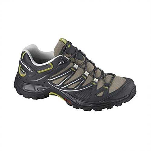Salomon Women's Ellipse GTX Hiking Shoe, Thyme/Asphalt/Dark Green, 7 M US