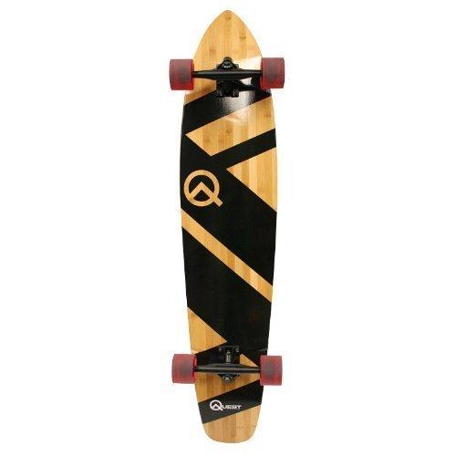 Quest Super Cruiser Longboard Skateboard, 112cm, schwarz