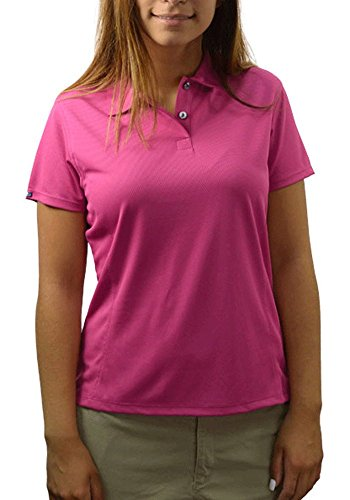Eyelet Bermuda (Bermuda Sands Women's LADY BREEZE - Micro Fiber Golf Shirt- Berry - XL)