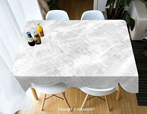 AngelDOU Decorative Rectangle Printed Table Cloth Abstract Soft Pastel Toned Onyx Stone Background with Grunge Effects Image Decorative for Dinner Kitchen Waterproof Stain Resistan,W55xL70(inch)
