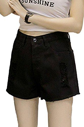 Les Femmes des Jeans Taille Haute Et Jeans Taille A Short Black