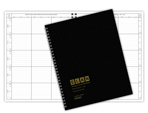 6 Period DATED Teacher Lesson Plan; Days Vertically Down the Side Dated for 2017-2018 Academic Year (D202)