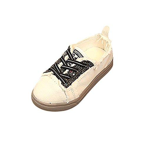 IGEMY Kinder Graffiti-Segeltuch-Schuhe, Kind-Kind-Stern Bling-Turnschuh-zufällige einzelne Schuhe Schwarz