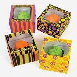 Cardboard Iconic Halloween Cupcake Boxes (12 (Big Halloween Cakes)