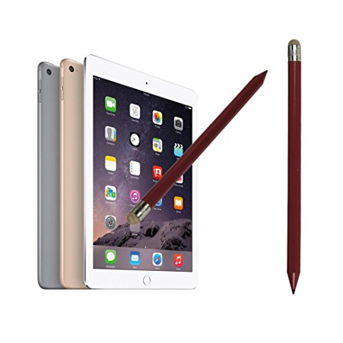 Price comparison product image MNtech NEW Fashion 2In1 Pencil-style Universal Capacitive Touch Stylus Pen for IPhone Tablet ICA (Red)