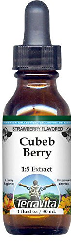 (Cubeb Berry Glycerite Liquid Extract (1:5) - Strawberry Flavored (1 oz, ZIN:)
