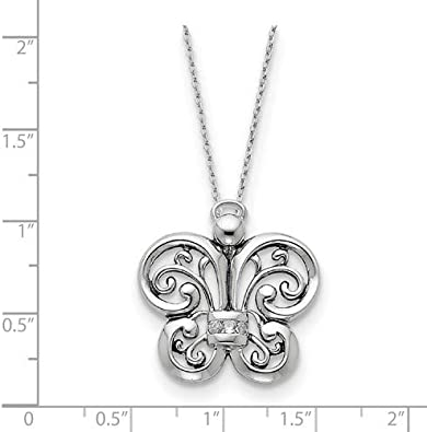 25x25MM 18 Rhodium-Plated Sterling Silver and Gold-Plated Got Your Back Necklace