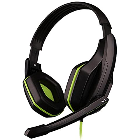 GranVela X1 Gaming Headset Wired Stereo Over-Ear Headphones with Microphone and Volume Control PU Ear-pad for PC, Notebook, Mac (Gamers Chairs For Pc)