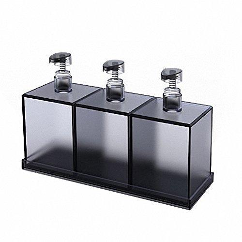 LUQHUQ Soap Dispenser for Bathroom (600ml X 3)(Gray)