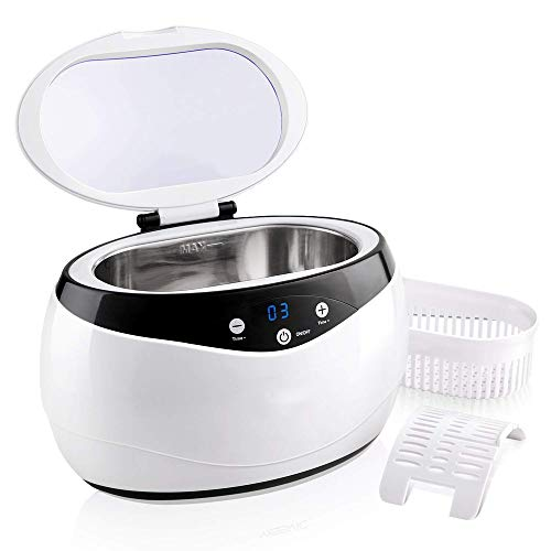(Ultrasonic Cleaner 650ML Portable Ultrasonic Cleaning Machine with Timer for Jewelry, Sunglasses, Watches, Dentures, Tableware, Daily Necessaries, Office Supply)