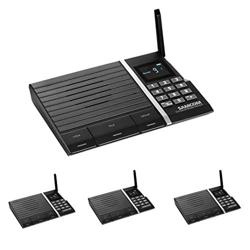 Wireless Intercom System,Samcom FTAN10A 10-Channel Long Range Wireless Intercom System for Home and Office 4 Stations ()