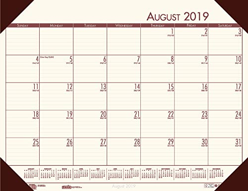 House of Doolittle 2019-2020 Academic Desk Pad Calendar, EcoTones, Cream, 18.5 x 13 Inches, August - July -