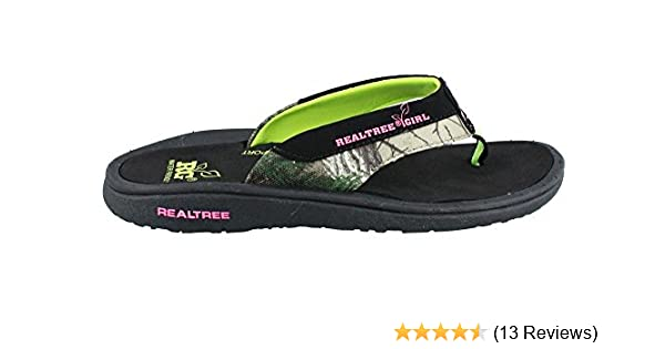 63fe191699cde Amazon.com | Realtree Outfitters Women's, Stream Thong Sandals Lime 9 M |  Flip-Flops