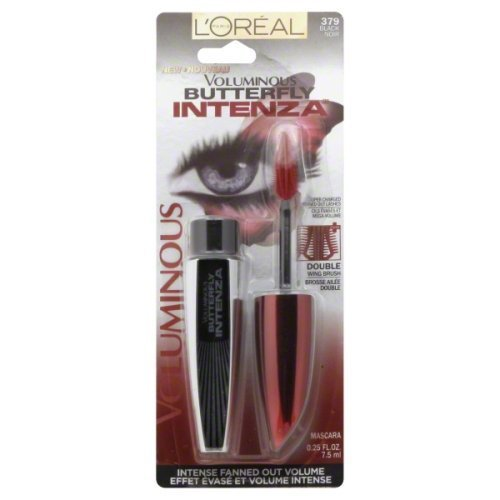 Butterfly Makeup (L'Oréal Paris Voluminous Butterfly Intenza Washable Mascara, Black, 0.25 fl. oz.)