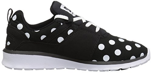 Dc Womens Heathrow Se Skate Shoe Nero / Bianco Stampato