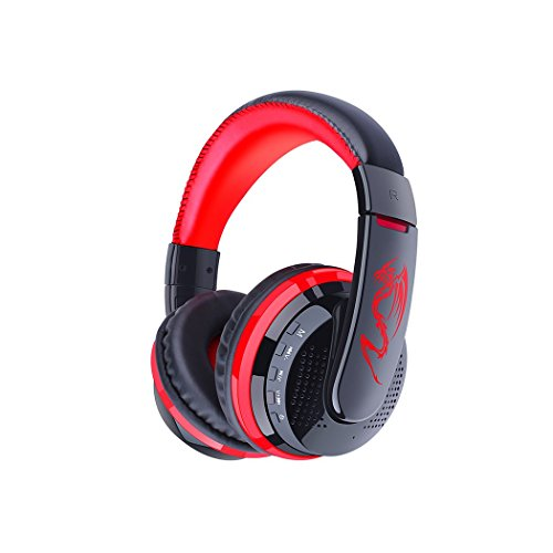 Wireless Bluetooth Headsets, Bodecin Skin Friendly Leather 3D Stereo Sound Sport Bluetooth 4.0 Headphones for iPhone/iPad/Android Build in Mic Support TF Card with USB Charging Cable