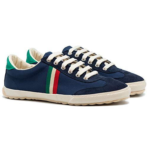 Berliner Ginnastica matct E Sneaker Dark blue Match Canvas Uomo Scarpe El Da Ganso Walking RqZwwB