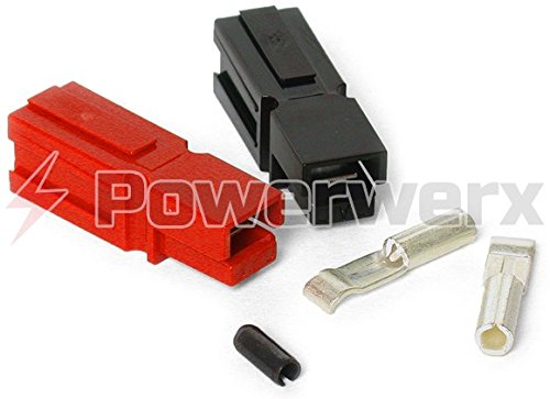 Powerwerx PP15-10 15 Amp Unassembled Red/Black Anderson Powerpole Connectors - 10 Sets by Powerwerx