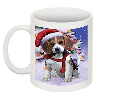 Winter Wonderland Beagle Dog Christmas Mug CMG0571 (Wonderland Mug Winter)
