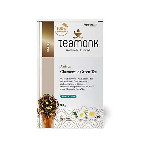 Teamonk Chamomile Green Tea, Long Leaf, 100 g