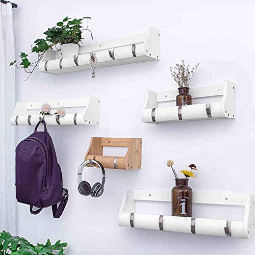 Amazon.com: TZZ - Perchero flotante de pared con ganchos ...