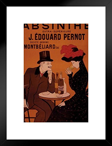 Poster Foundry Leonetto Cappiello Absinthe J Edouard Pernot Vintage Advertising Print Matted Framed Wall Art Print 20x26 inch