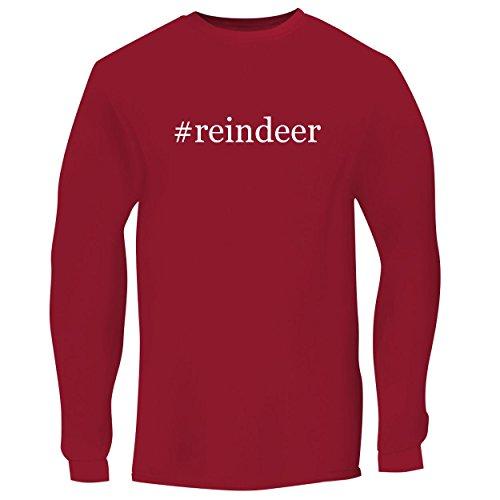 Reindeer Spun Glass (BH Cool Designs #Reindeer - Men's Long Sleeve Graphic Tee, Red, Large)