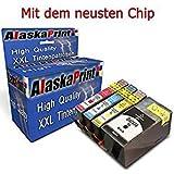 Alaskaprint 4x Cartucce d'inchiostro Sostituire per HP 934XL 935XL Alta capacità Compatibile con HP Officejet Pro 6220 6830 6820 6825 6230 6812 6815 6835 6836 Stampante Alta capacità ,con nuovi chip (1 Nero,1 Ciano,1 Magenta,1 Giallo)