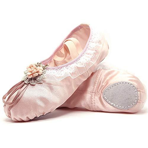 De En Fdsgfdz Dance Adultes 4 Uk Ballets Gymnastique Professionnelles Satin couleur Plates Fond Beige D'entranement 5 Pour Ballet Plat Taille Chaussures Yoga Rose 77zqrFw