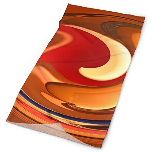 WEEDKEYCAT Spiral Orange Red Flame Headwrap Unisex Multifunction Headwear Polyester Quick Dry Soft Headband Neck Scarf,Cool Headdress Travel Magic Head Scarf Bandana Mask Neck Gaiter Men Women