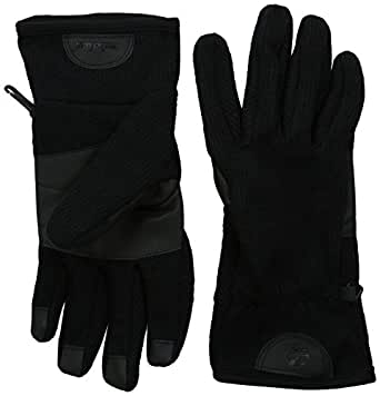 Timberland Men's Ribbed Knit Wool Blend Glove with Touchscreen Technology, Black, Medium