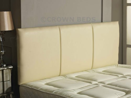 CROWNBEDSUK QUALITY FAUX LEATHER ALTON HEADBOARD IN 2ft6,3ft,4ft,4ft6,5ft,6ft NEW!!!!! (2FT6 SMALL SINGLE, BLACK) CROWNBEDSUK®