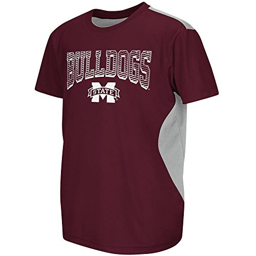 (Youth NCAA Mississippi State Bulldogs Performance Short Sleeve Tee Shirt (Team Color) - L)