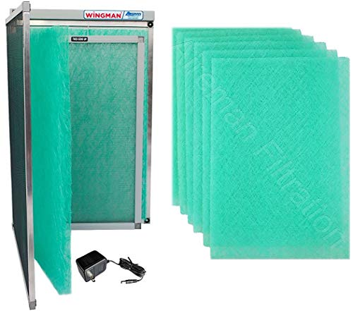 (16x25x1 Electronic Air Filter Including Year Supply of Replacement Pads - Homeowner Installed- Simply Replace Your Current AC Furnace Air Filter and PLUG IT IN!)