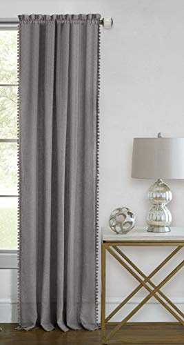 - Ben & Jonah PrimeHome Collection Wallace Rod Pocket Window Curtain Panel-52x63-Grey, Grey