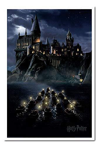 Blanc  UHIBROS Harry Potter Hogwarts Bateaux Affiche Liège Broche Tableau - Hêtre