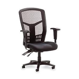 "Lorell Executive High-Back Chair, Mesh Fabric, 28-1/2""x28-1/2""x45, BK"