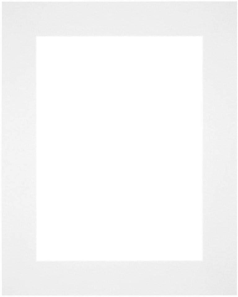 Your Decoration Passe-partout 40 x 50 cm//28 x 38 cm Carton blanc bord 6 cm droit