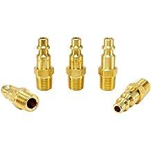 Foster 3 Series - Brass Plugs 5pc, 1/4 Body, 1/4 NPT - Industrial Interchange, I/M, MIL Spec,