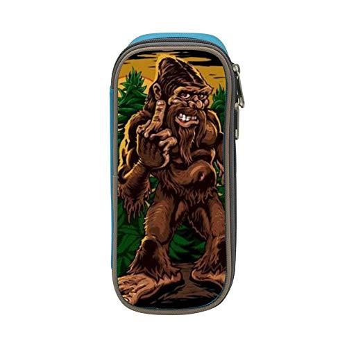 QDBKM Canvas Pen Holder Terrible Gorilla Pencil Bag Big Capacity Makeup Pouch Case Purse Durable -
