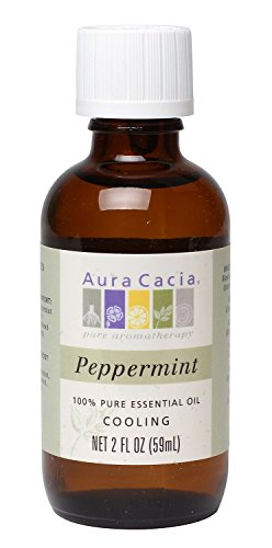 Energizing Mint Essential Oil - Aura Cacia Essential Oil, Cooling Peppermint, 2 fluid ounce